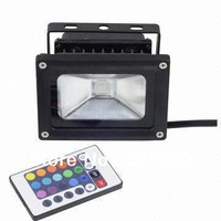Hot Sale HKS Led Flood Light 10W Warm White / Cool White / RGB Remote Control Floodlight Led Outdoor Lighting