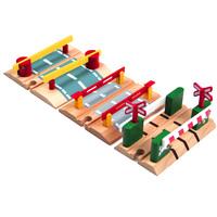 Wooden train double-pole daozha blockades compatible thomas train