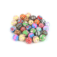 Beaded materials diy handmade accessories polymer clay beads color decorative pattern 8 10 12 15