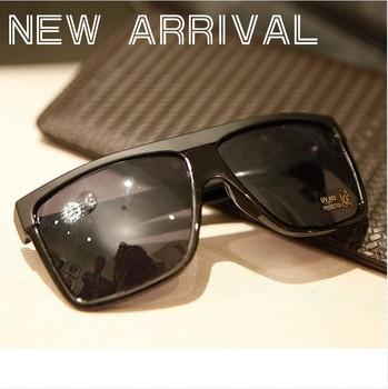 13 mirror black rivet anti-uv large sunglasses sun glasses