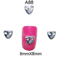 Fashion 3D Metal Nail Art Decoration / Cellphone Rhinestone Glitters Decoration, 100pcs/lot + Free Shipping A88
