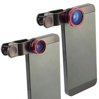3in1 Fisheye Wide Angle Macro Lens Photo Set for iPhone 4S 4 5 Galaxy S4 S3 S2 i9300 i9500 N7100