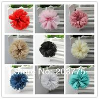 "Wholesale - 2.5"" fabric flowers chiffon shabby flower for headbands korean accessories free shipping"