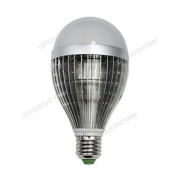 Free Shipping E27 AC 85-265V 12W 1200 Lumens Ultra Bright Aluminum Gilled Heat Sink LED Lighting Lamp Bulb w/ Plastic Cover
