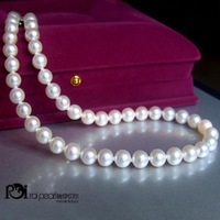 8-9 mm bright white South Sea pearl necklace