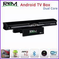 Free Fedex - Rikomagic RKM MK602 Dual Core Android TV Box RK3066 1GB DDR3+8GB Build in Bluetooth WiFi Camera 1080P - 20pcs/lot