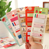 FIRST LINE Retro Schedule-it Sticky Memo Pad Sticky Notepad Note Book 8 designs 0779