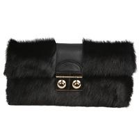 Fashion women's fashion genuine leather handbag first layer of cowhide horsehair bag clutch bag banquet bag day clutch winter