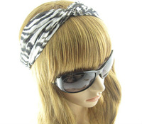 Zebra  Stripe Hair Accessory  Fashion The Wide  HeadBand For Women Girl  Black