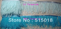 "Free Shipping!5Meters/Lot 6-8""  turquoise Ostrich Feather Trim Ostrich Fringe"
