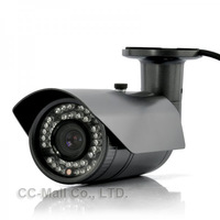 High Definition Weatherproof IP Security Camera &quot Gamma&quot  - 1 4 CMOS Sensor  42 IR LEDs