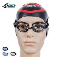 Goggles sable sabines myopia swimming glasses waterproof anti-fog swimming goggles comfortable plain