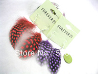 Accessories fashion earrings stud earring c50 natural feather(red/purple)