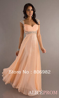 In Stock 2013 New Cap Sleeve V Neck Bridesmaid Formal Prom Dresses Gowns Size 2 4 6 8 10 12 14 16 +, Style: Z290-A