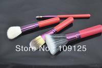 red   Four no package photo set of brush animal wool makeup brush