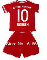 13-14 Bayern Munich #10 Robben kids/youth football jersey