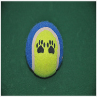 colorful tennis ball, pet products, dog toys with footprint