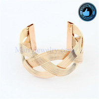 Korean Fashion Temperament Weave Wavy Alloy Cuff Bangles (No.8254-9) Min Order $10