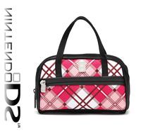 Free Shipping  2013  multi color double layer print  checker waterproof material tote bag,digital bag  item #0647