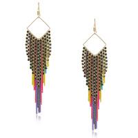New Fashion Jewelry Elegant Colorful Chain Tassel Earrings Neon Drop Earrings