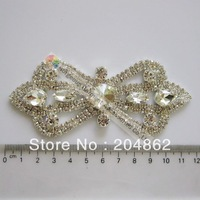 Free Express shipping 12pcs/lot, Wedding bridal bling crystal rhinestone sash appliques in Sliver Setting