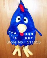 Promotion + Free Shipping  Plush Toys Children Backpack Cloth Doll Chicken Dark blue Light blue 29CMx23CMx16CM