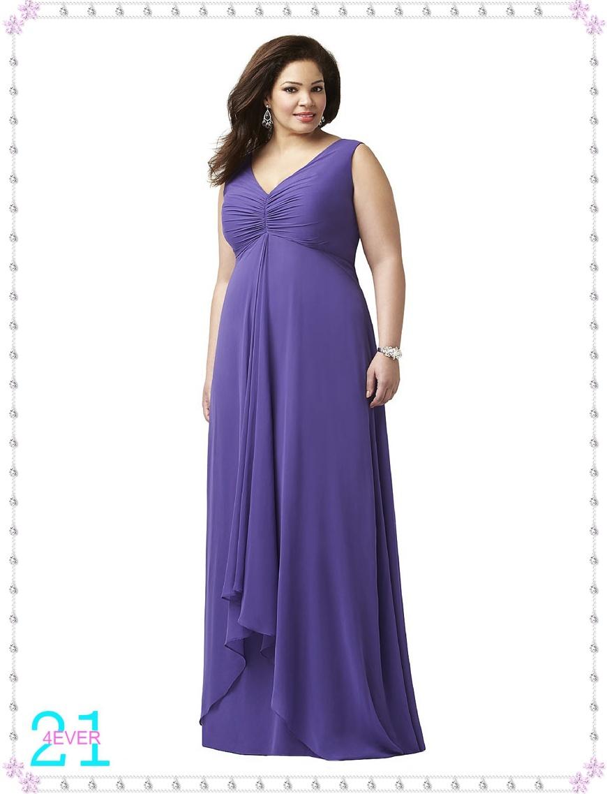 2 Piece Plus size Bridesmaid dresses | @FASHION SHOW