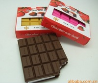 Free shipping Chocolate notebook chocolate notes chocolate  diary 3 color  2013 new listing