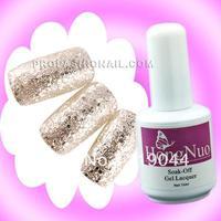 Free Shipping 15ml Silver Glitter Soak off UV Gel Polish Set Nail Polish Color Nail Vanish NA585