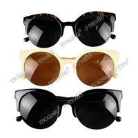 Hot sale Fashion Unisex Retro Designer Super Round Circle Cat Eye Semi-Rimless Sunglasses Glasses Goggles 5635