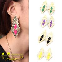 Wholesale Lot 10x Accessories triangle earrings delicate little earrings female jewelry