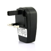 UK Plug USB AC DC Power Supply Wall Charger Adapter MP3 MP4 DV Charger Black
