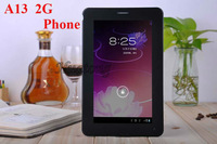 7 inch A13 2G sim card slot dual cameras buletooth 512MB/4GB android 4.0 phonecall tablet DHL free shipping 10pics/lot