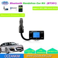 Bluetooth Car Kit MP3 Player FM Transmitter Modulator Remote Control USB/SD/MMC Support