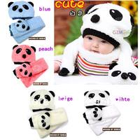 NEW Panda shaped Lovely Boy girl Hats,Winter baby hats,Children warm hats, Cute kids cap Cozy titfer Free shipping A05M21