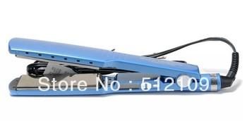 "Free shipping Titanium Ceramic Hair Straightening Straightener Flat Iron 1 1/4"" BABNT2091 PRO Nano send with 110v to 220v"