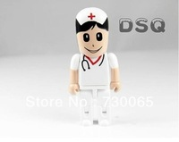 Cute doctor model USB 2.0 Memory Stick Flash pen Drive 4GB 8GB 16GB 32GB