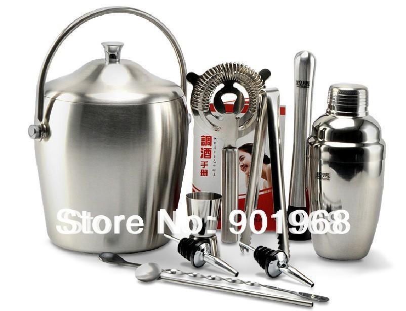 Stainless Steel Barware Stainless Steel Barware 550ml Shaker Bar Tool 11pcs Set