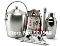 stainless steel barware 550ml shaker bar tool 11pcs set