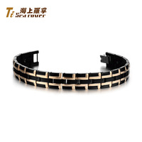 Retails&Rover lettering fashion anti radiation anti fatigue titanium pure germanium health bracelet male