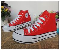 Fashion shoes high-top shoes lacing paltform breathable platform the trend women's shoes canvas shoes