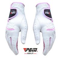 Free shipping Custom golf gloves Golf gloves genuine leather Women slip-resistant women's pgm