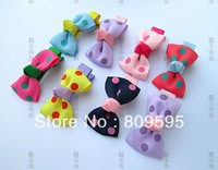 Free shipping , Wholesale 100pcs/lot 7colors bowknot hair clip Baby Girl hairpin Girls hairpin Spot Bow pin