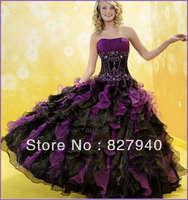 New Arrive/Hot Sale With BeadingRuffles  Sweetheart Ball Gown Sweetheart Quinceanera /Bridesmaid Dress,Custom!W-10
