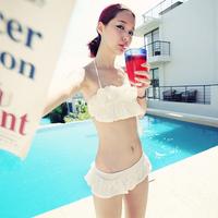 The new 2013 is popular Hot spring swimwear hot spring swimsuit split skirt small bikini female swimwear bikini  Free Shipping