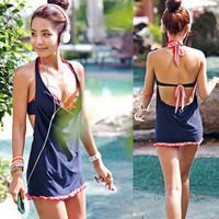 The new 2013 is popular Steel push up small split bikini piece set swimwear spa swimsuit  bathing suit  Free Shipping