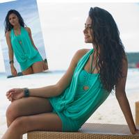 The new 2013 is popular Gauze one piece plus size sexy fashion swimwear female plus size plus size swimwear  Free Shipping