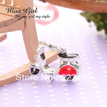 Miss Girl ~ Retro silver series Vespa Pendant