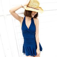 The new popular 2013 Hot spring swimwear women's small push up swimwear one-piece dress plus size swimwear  Free Shipping