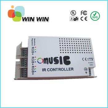 9 Channels DC12V input Music sound/audio sensor RGB controller 12v 5A 60w RGB IR controller